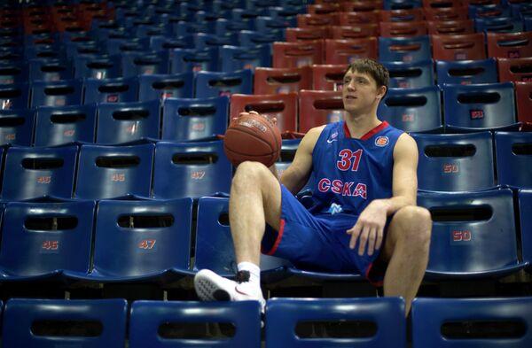 Баскетболист ПБК ЦСКА Виктор Хряпа