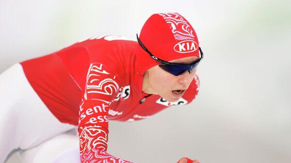 Российская конькобежка Евгения Лаленкова