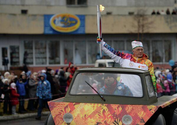 Эстафета Олимпийского огня. Архангельская область