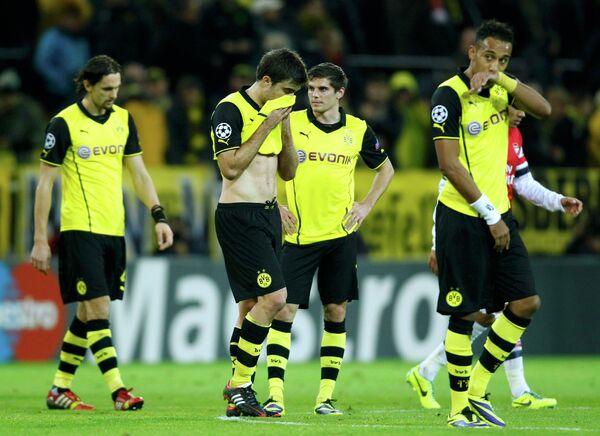 Футболисты Боруссии после поражения от Арсенала