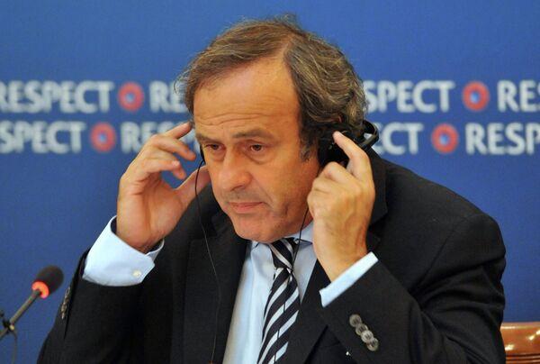 Президент Союза европейских футбольных ассоциаций (УЕФА) Мишель Платини