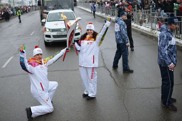 Эстафета Олимпийского огня. Хабаровск