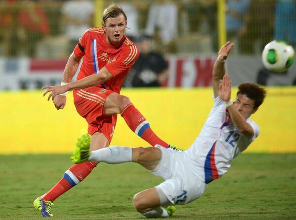 Игровой момент матча Россия - Корея
