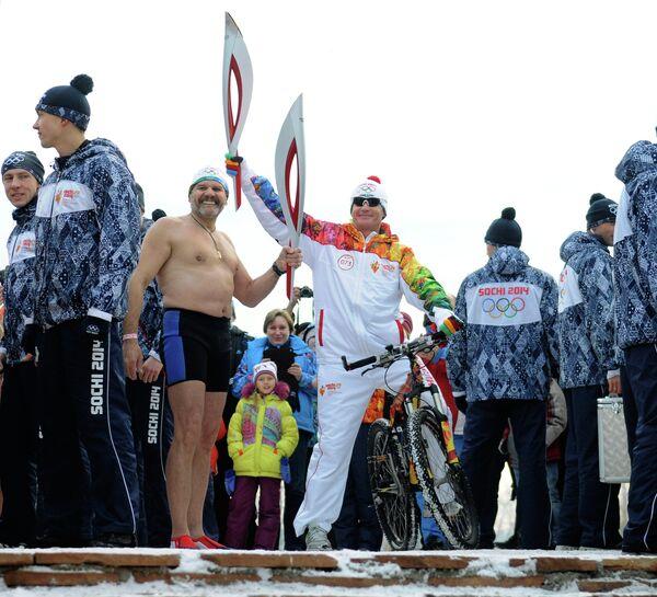 Эстафета олимпийского огня. Красноярск