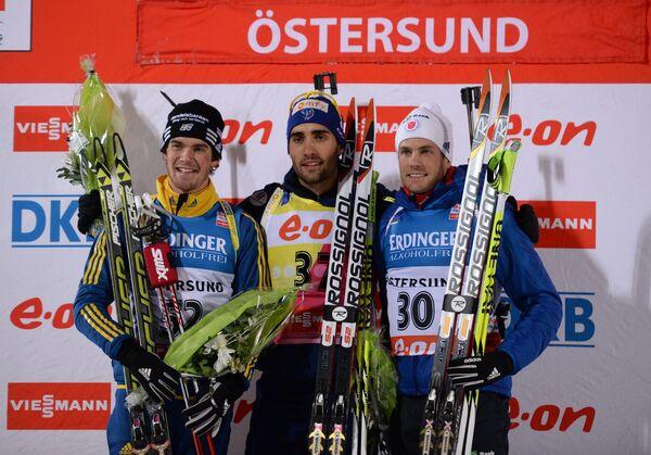 Слева направо: Фредрик Линдстрем, Мартен Фуркад и Тим Берк