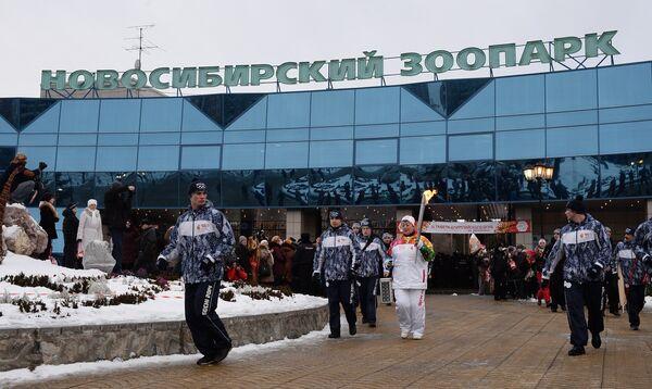 Эстафета олимпийского огня. Новосибирск. День 1