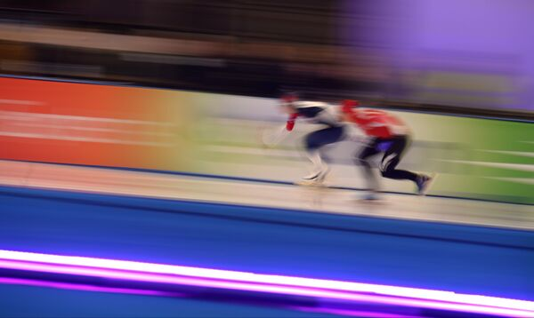Конькобежный спорт. IV этап Кубка мира. Второй день