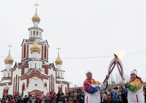 Эстафета Олимпийского огня. Киров