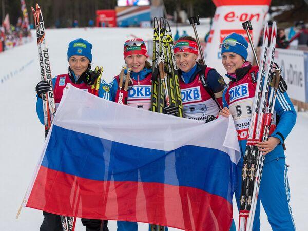 Ольга Зайцева, Екатерина Глазырина, Ольга Вилухина и Ирина Старых (слева направо)
