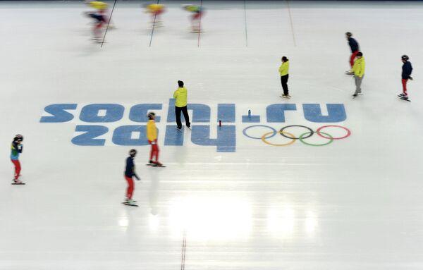 Олимпиада 2014. Шорт-трек. Тренировки