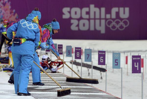 Олимпиада 2014. Биатлон. Женщины. Спринт. Тренировки
