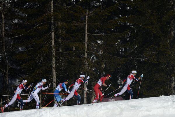 Олимпиада 2014. Лыжные гонки. Женщины. Скиатлон