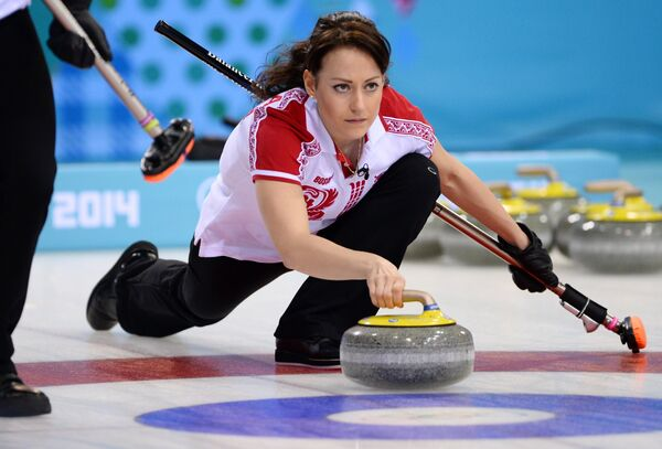 Екатерина Галкина (Россия) в матче кругового турнира между сборными командами Японии и России