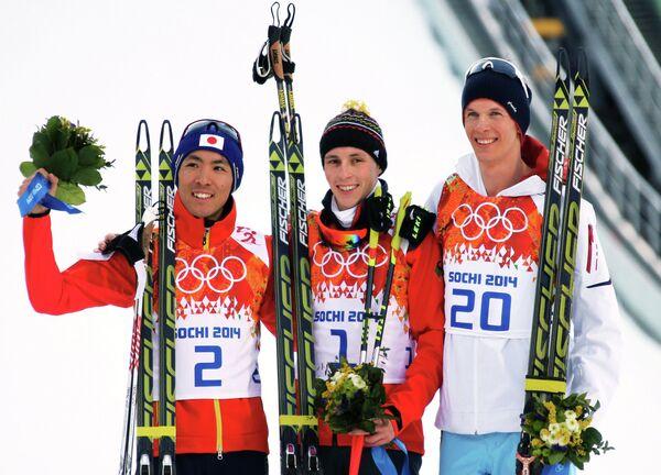Акито Ватабэ, Эрик Френцель и Магнус Крог (слева направо)
