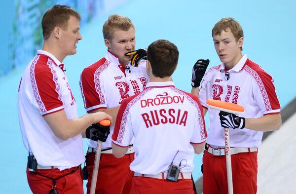 Петр Дрон (Россия), Алексей Стукальский (Россия) и Андрей Дроздов (Россия) и Евгений Архипов (Россия)