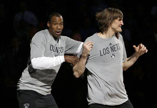 Баскетболисты Бруклина Джейсон Коллинз и Андрей Кириленко