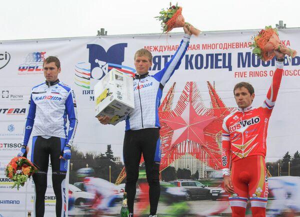 Подиум пролога велогонки Пять колец Москвы