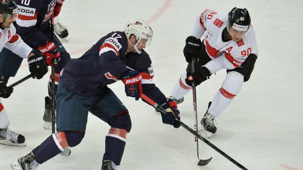 Игрвой момент матча США - Швейцария