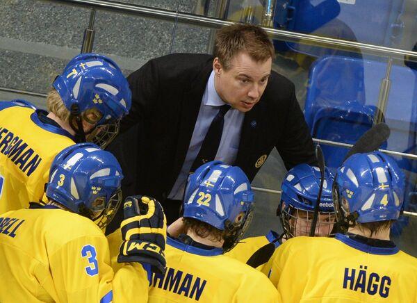 Главный тренер юниорской сборной Швеции Рикард Гренборг