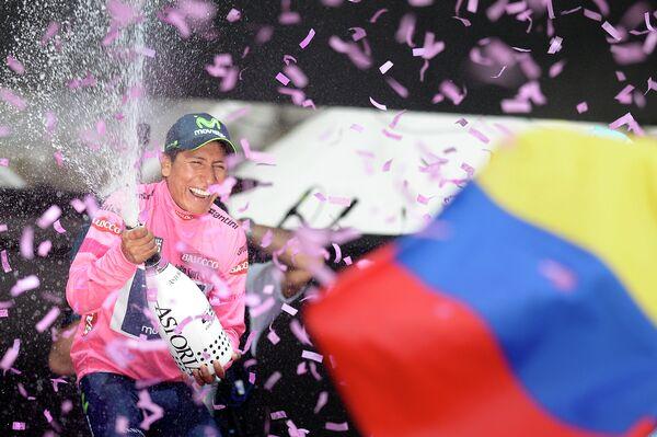 Велогонщик Наиро Кинтана из команды Movistar, победивший в генеральной классификации Джиро д'Италия