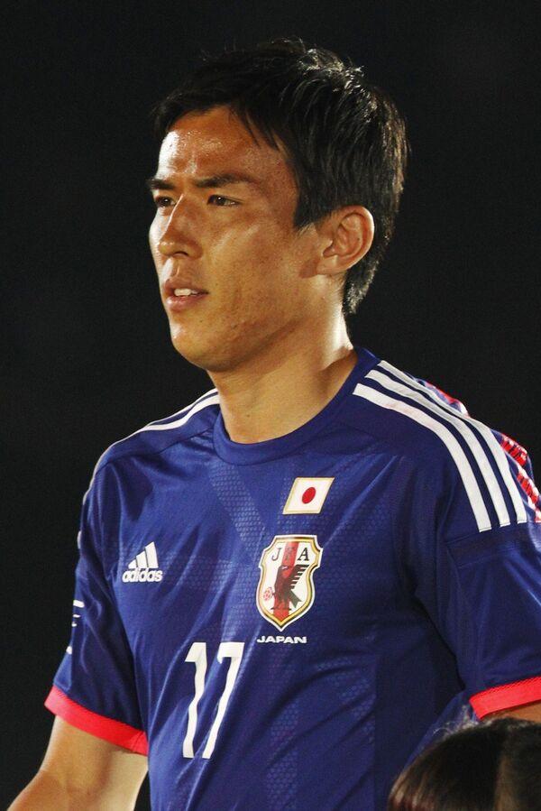Капитан сборной Японии по футболу полузащитник Макото Хасэбэ