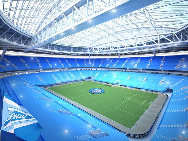 Макет стадиона Зенит-Арена