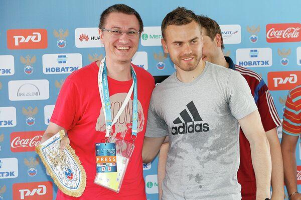 Василий Конов и Игорь Акинфеев (слева направо)