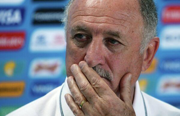 Главный тренер сборной Бразилии по футболу Луис Фелипе Сколари