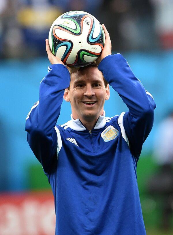 Форвард сборной Аргентины Лионель Месси.