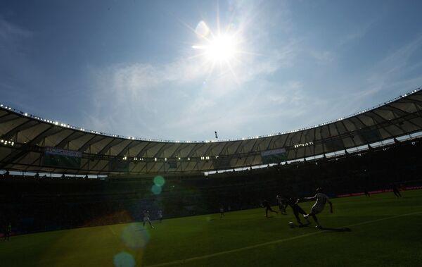 Игровой момент матча Франция - Германия