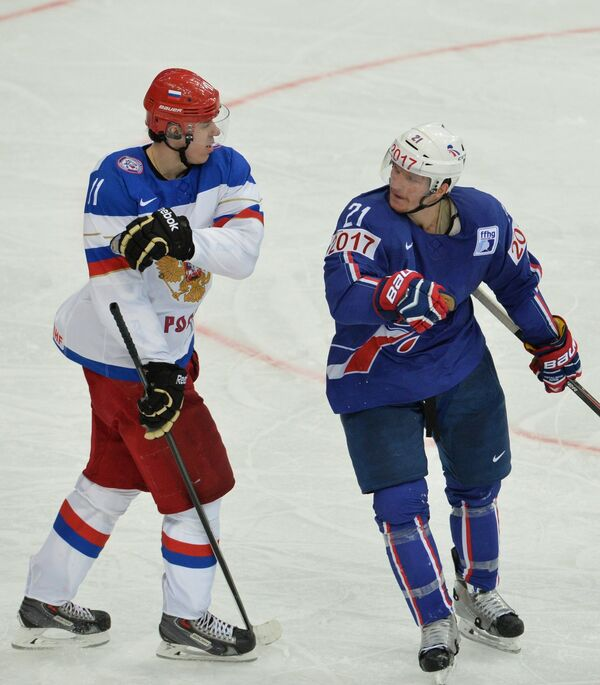 Антуан Руссель (справа) и Евгений Малкин