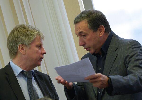 Президент РФС Николай Толстых (слева) и президент ПФК ЦСКА Москва Евгений Гинер