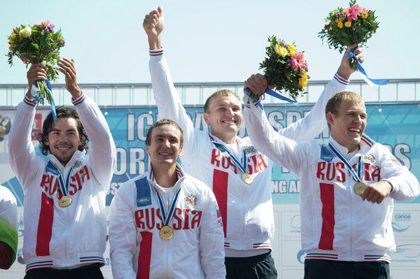 Илья Первухин, Кирилл Шамшурин, Кирилл Мелантьев и Расул Ишмухамедов (слева направо)