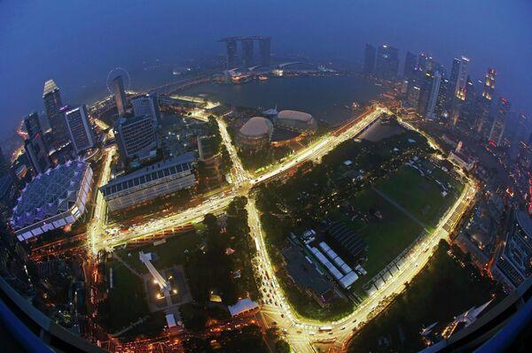 Трасса Марина-Бэй, где проходит Гран-при Сингапура Формулы-1