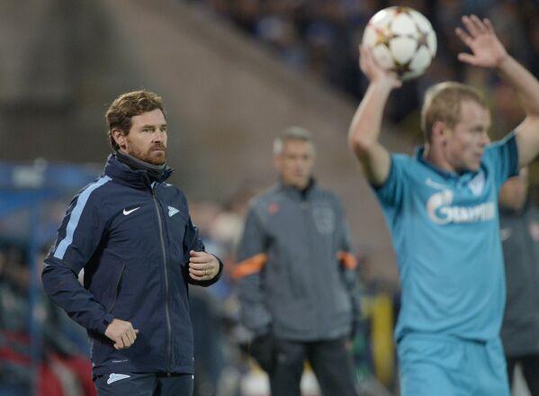 Главный тренер Зенита Андре Виллаш-Боаш (слева)