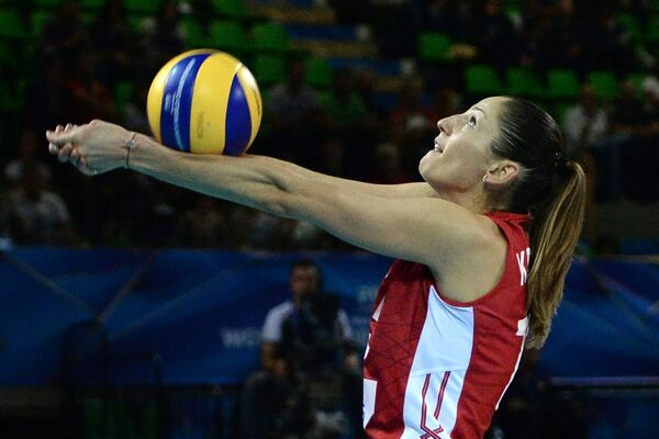 Доигровщица сборной России Татьяна Кошелева