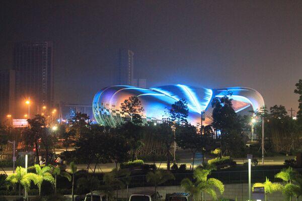 Китайский город Наньнин, где проходит чемпионат мира по спортивной гимнастике