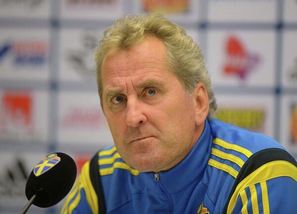 Главный тренер сборной Швеции по футболу Эрик Хамрен.