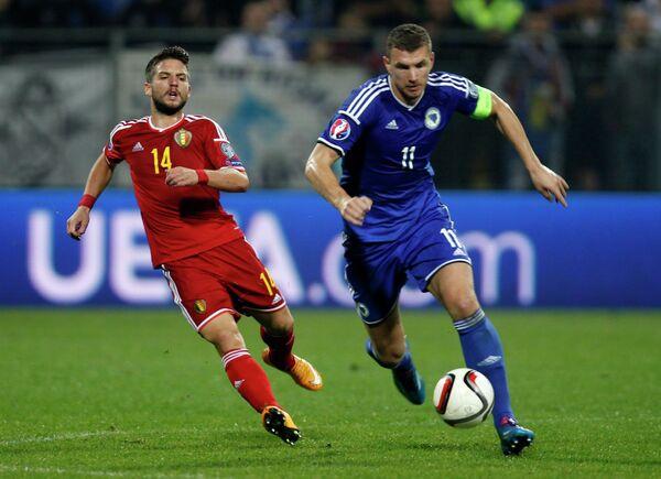 Игровой момент матча Бельгия - Босния и Герцеговина