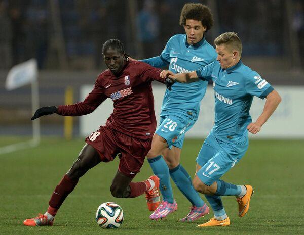 Игровой момент матча Зенит - Мордовия