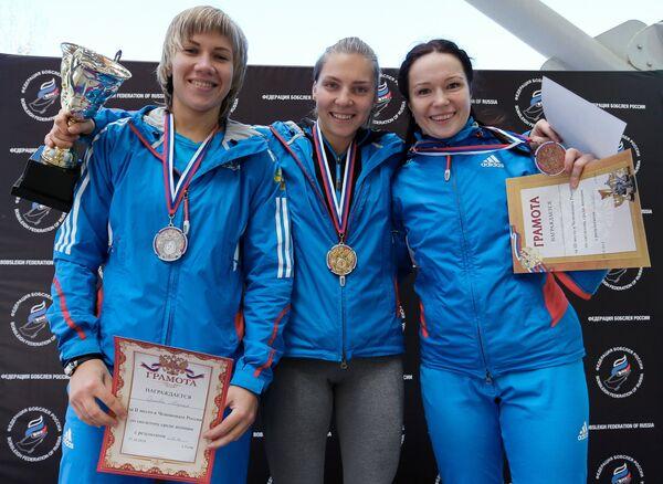 Мария Орлов - второе место, Елена Никитина - первое место, Ольга Потылицына - третье место