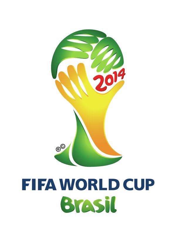 Логотип ЧМ-2014 по футболу в Бразилии.