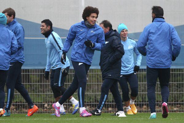 Тренировка Зенита перед матчем Лиги чемпионов с Байером