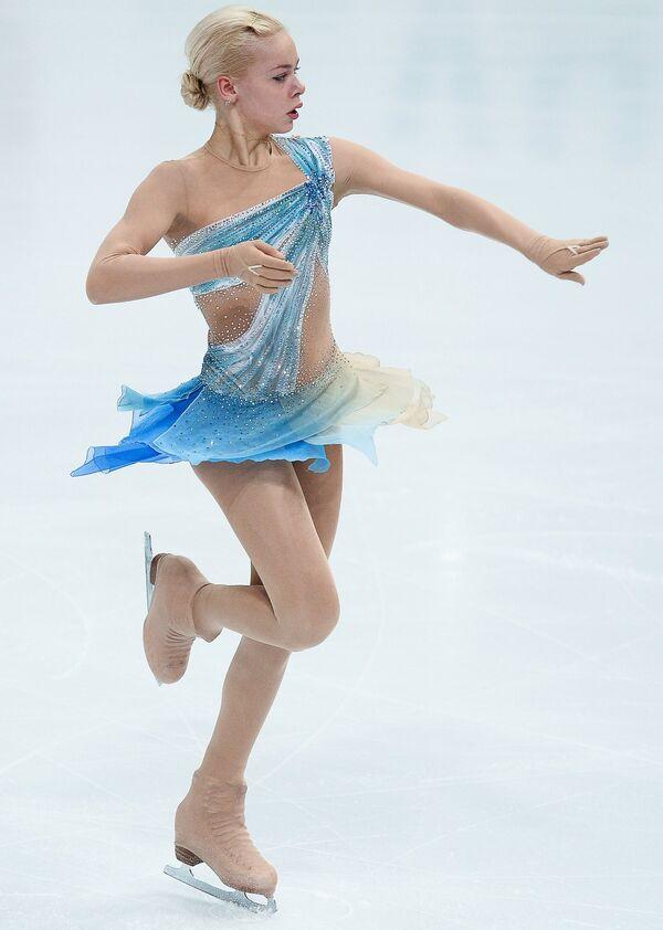 Российская фигуристка Анна Погорилая