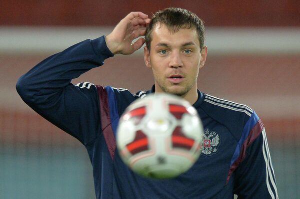 Нападающий сборной России по футболу Артем Дзюба