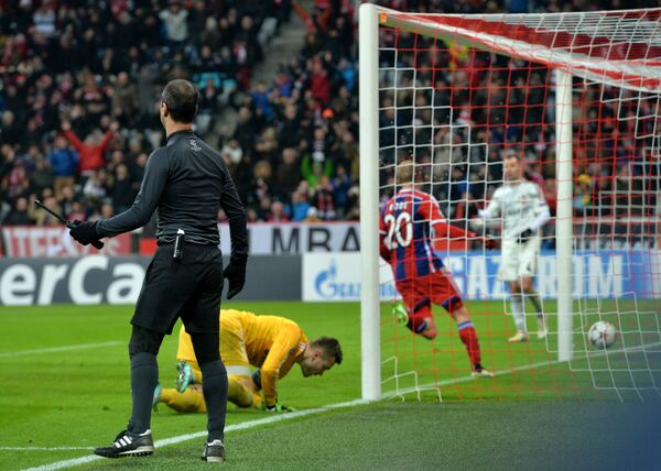 Игровой момент матча Бавария - ЦСКА