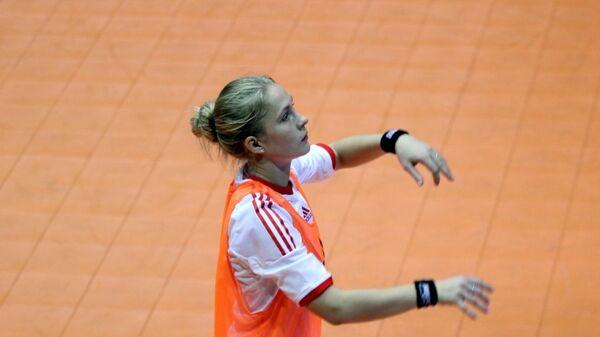 Игрок женской сборной России по мини-фуболу Александра Самородова