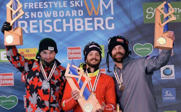 Кевин Хилл, Лука Маттеотти и Ник Баумгартнер (слева направо)