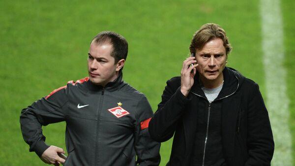 Валерий Карпин и Роман Асхабадзе (справа налево)