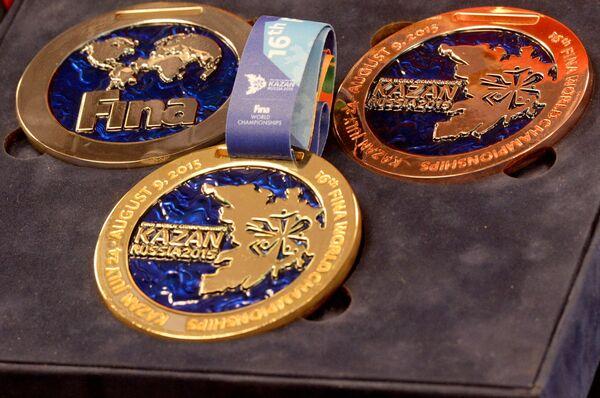 Медали 16-го чемпионата мира FINA по водным видам спорта 2015 года в Казани